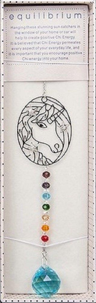 284965-3D Unicorn Crystal Suncatcher - 4 Colours To Choose From (Aqua) Shudehill