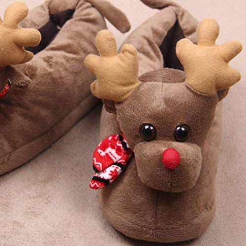 Pantofole Da Uomo Oksale Casa Da Uomo Inverno Caldo Caldo Scarpe Da Interno In Cotone Peluche Pantofola Marrone