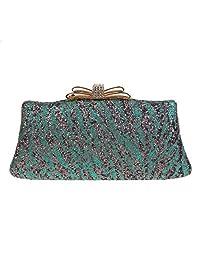 Fawziya Zebra Pattern Glitter Clutch Evening Bags for Women Party Clutches