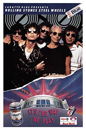 27 x 40 The Rolling Stones Steel Wheels Tour Movie Poster