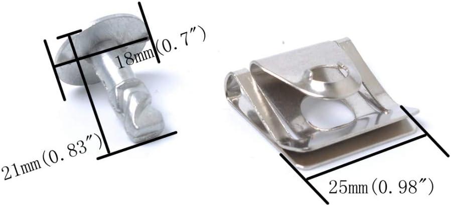 NoNo Auto Schrauben Muttern Schrauben Unter Motor//Getriebe-Abdeckung Fixing Montage Clips /& Screw Kit 10 Sets Fit for Audi//Volkswagen