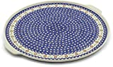 Polish Pottery 17¼-inch Pizza Plate (Sweet Red Flower Theme) + Certificate of Authenticity