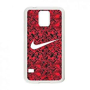 Charming Nike Logo Funda,Just Do It Nike Logo Samsung Galaxy S5(White) Case,Nike Funda Black Hard Plastic Case Cover For Samsung Galaxy S5(White)
