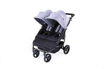 Baby Monsters Silla Gemelar Easy Twin 2.0. Heather Grey 0m+: Amazon.es: Bebé
