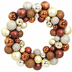 Morecome Christmas 55 Balls Wreath Door Ornament Garland Decoration (Coffee)