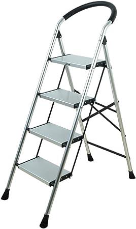 C-J-Xin Escalera del Dormitorio, Escalera Antideslizante de Metal Escalera Exterior Escalera Plegable para Sala de Estar Tamaño 47 * 14 * 145 CM Escalera de casa (Tamaño : 47 * 14 * 145CM): Amazon.es: Hogar