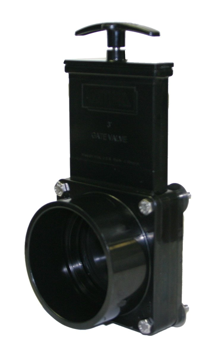 Valterra 7311 ABS Gate Valve for Direct Tank Mounting, Black, 3' Slip x Tank Flange 3 Slip x Tank Flange Valterra Products