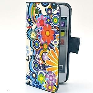 MOFY-Daisy flores patr-n duro caso con ranura para tarjeta y Mate PC de la contraportada para el iPhone 5/5S