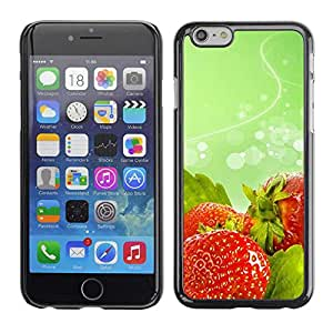 "Exotic-Star ( Fruit Macro Wet Strawberries ) Fundas Cover Cubre Hard Case Cover para 4.7"" iPhone 6"