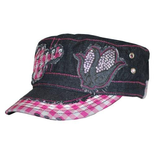 64bd88aab0556 Hick Chick Women s Corn Bling Cap in Black Denim - Buy Online in Oman.