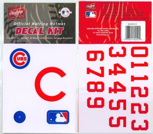 Rawlings Authentic MLB Official Batting Helmet Decal Kit from (Stick Natural Big Rawlings)