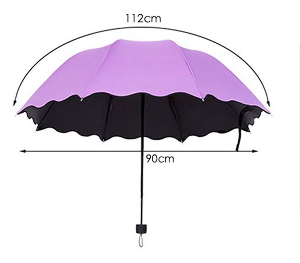 CAMTOA - Paraguas de viaje que cambia color cuando se moja ...