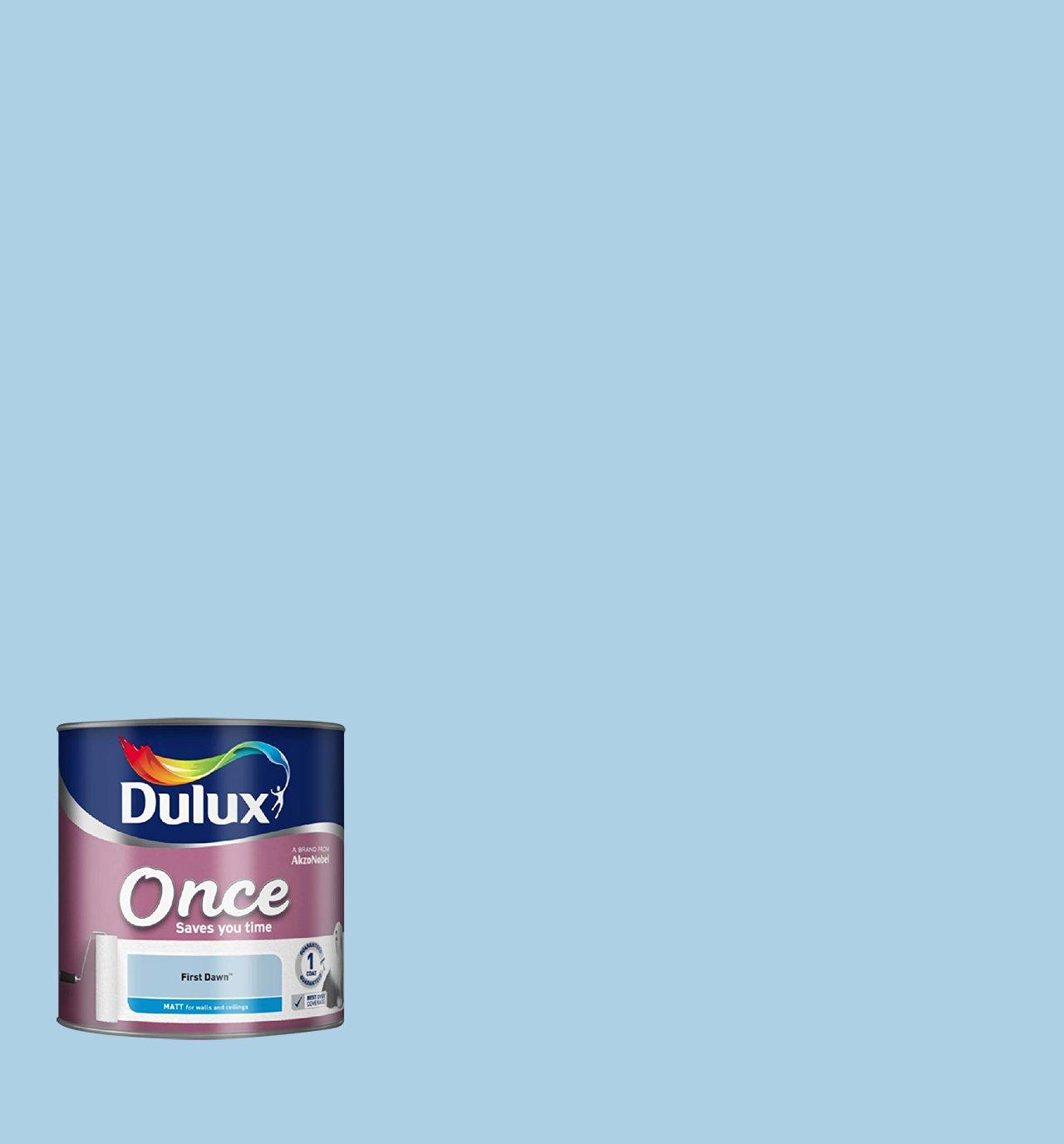 Dulux Once Matt Farbe für Wände, blau: Amazon.de: Baumarkt