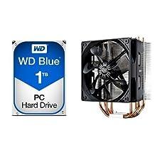 "Western Digital 1TB 3.5"" 7200 RPM SATA III 64MB Cache Desktop Hard Drive (Blue) & Cooler Master Hyper 212 EVO CPU Cooler with 120mm PWM Fan Bundle"