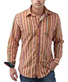 Joe Browns Men's The New Spanker Shirt, Orange/Red, Large