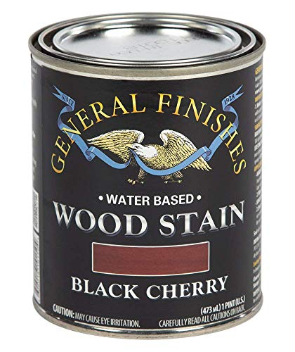 General Finishes WKPT Water Based Wood Stain, 1 Pint, Black Cherry