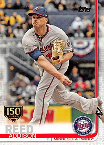 2019 Topps 150th Anniversary Baseball #193 Addison Reed Minnesota Twins Official MLB Trading Card By Topps