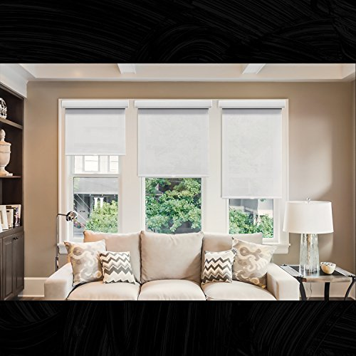 Chicology Deluxe Free-Stop Cordless Roller Shades No Tug Privacy Window Blind, 71'' W X 72'' H, Magnolia (Light Filtering) by CHICOLOGY (Image #3)