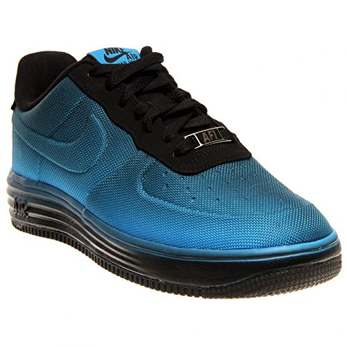 nike lunar force 1 VT mesh GS trainers 599232 sneakers shoes (uk 3.5 us 4Y eu 36, blue hero black 400)