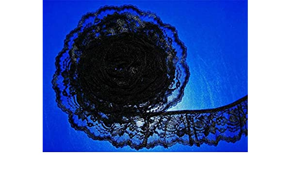 Bulk Lace~50 Yards Navy Blue 2 Inch Wide Ruffled Floral Lace Trim