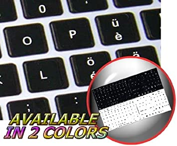 MAC SWISS KEYBOARD STICKERS BLACK COLOR BACKGROUND