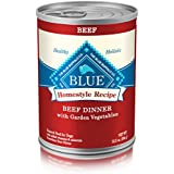 BLUE Life Protection Dog Food Blue Buffalo Homestyle Recipe Natural Adult Wet Dog Food, Beef 12.5-oz can (Pack of 12)