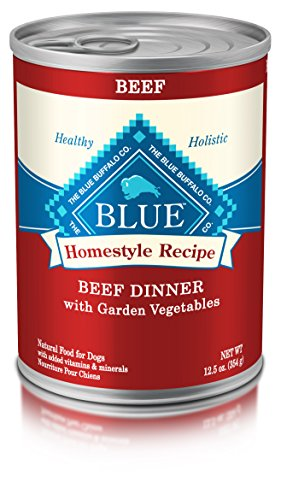 Blue Buffalo Homestyle Recipe Natural Adult Wet Dog Food, Beef 12.5-oz can (Pack of 12)