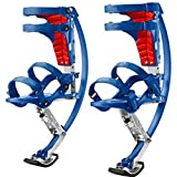 XIHAA Kids Youth Kangaroo Shoes Jumping Stilts Fitness Exercise, for People Weight (44Lbs~110Lbs/20Kg~50Kg),Blue