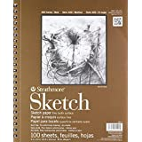 Strathmore Spiral Sketch Book 9-Inch by 12-Inch,100-Sheet