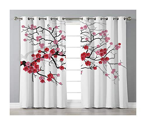 Goods247 Blackout Curtains,Grommets Panels Printed Curtains Living Room (Set of 2 Panels,42 84 Inch Length),Nature -