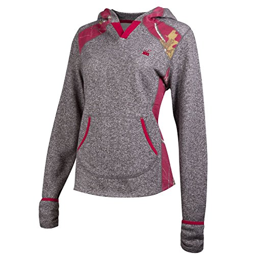 Realtree Girl Mozelle Sweat chiné gris anthracite/Realtree AP Cardinal Camo Petit