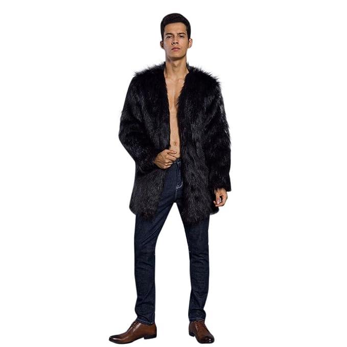 Morwind Hombre Invierno Abrigo,Prendas de Vestir Las Hombre de Otoño Invierno CáLido Abrigo Largo