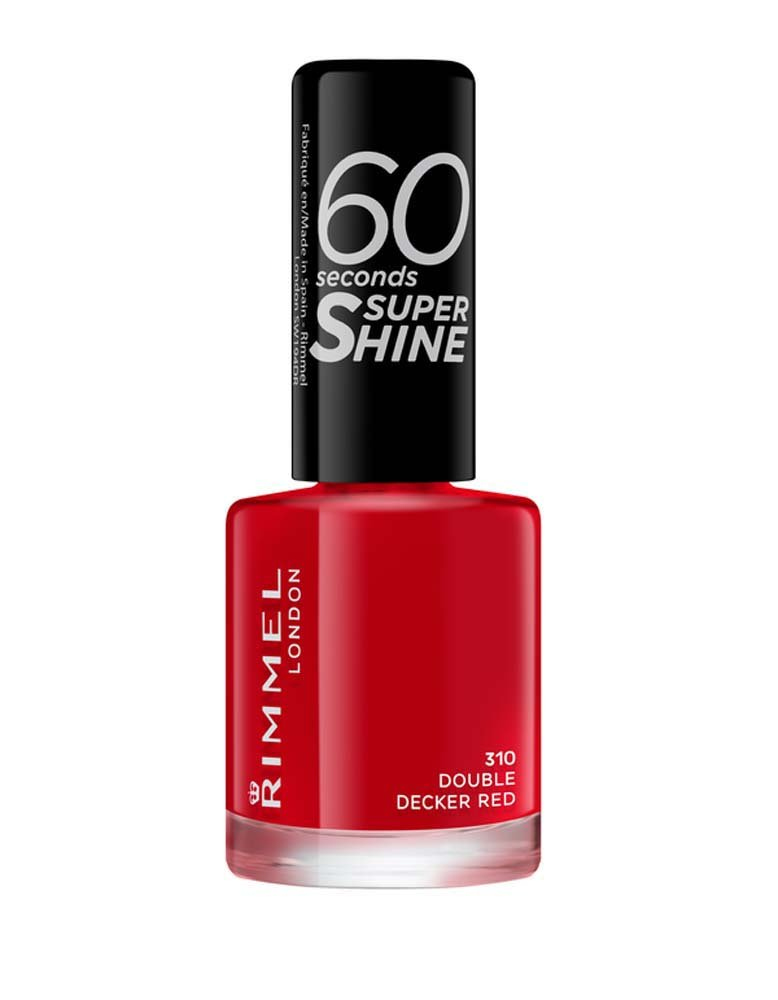 Rimmel Queen Of Tarts, 60 Seconds Super Shine Nail Polish, Red, 8 ml Coty 34778209310