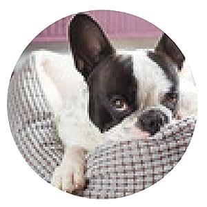 alfombrilla de ratón Adorable bulldog francés en la madriguera - ronda - 20cm