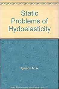 static problems of hydoelasticity m a ilgamov
