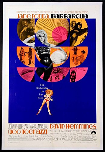 BARBARELLA JANE FONDA SCIENCE FICTION 1968 RARE STYLE 1-SHEET