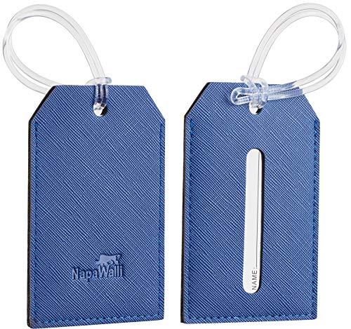 NapaWalli RFID Blocking Minimalist Genuine Leather Slim Front Pocket Wallet U (Chelsea Blue) (Leather Wallet Mens)
