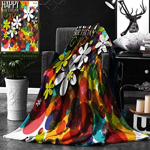 Unique Custom Digital Print Flannel Blankets Birthday Decorations