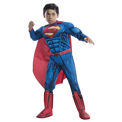 Costume Ideas Children's Book Characters (Deluxe Superman Child Costume - Medium)
