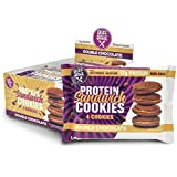 Buff Bake Protein Sandwich Cookies, Double Chocolate, 1.79oz, 8 count