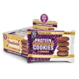 no bake chocolate - Buff Bake Protein Sandwich Cookies Double Chocolate 8 individual 51G packs (12g Protein Per Pack); Crispy protein cookies sandwiched with Gluten Free, Non GMO, Low Sugar Protein Nut Butter