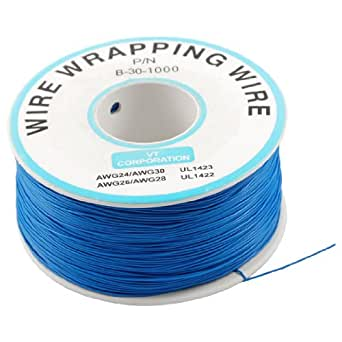 uxcell Breadboard P/N B-30-1000 Tin Plated Copper Wire Wrapping 30AWG Cable 305M Blue