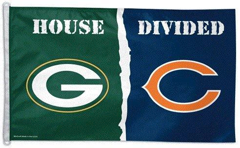 Green Bay Packers vs. Chicago Bears House Divided Flag  ()