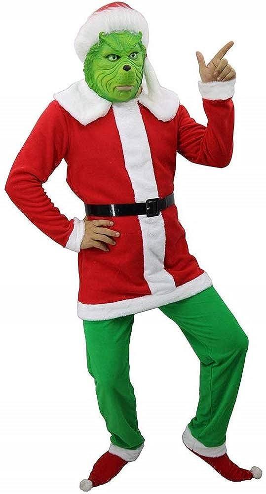 YUYIHAN Disfraz de monstruo verde, disfraz de Santa Cosplay ...