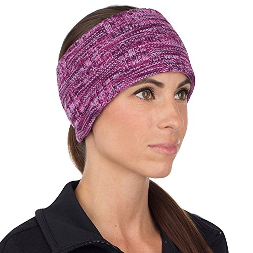 TrailHeads Women's Space Dye Knit Ponytail Headband - light purple