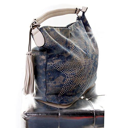 H femme amp;D pour Pochette Bleu xFAwzFUqY