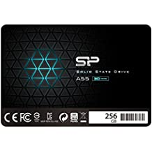 """Silicon Power 256GB SSD 3D NAND With R/W Up To 550/450MB/s A55 SLC Cache Performance Boost SATA III 2.5"""" 7mm (0.28"""") Internal Solid State Drive (SP256GBSS3A55S25)"""
