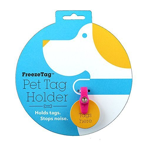 Pink Dog Tag Silencers - FreezeTag Dog Silencer and Connector, Pink