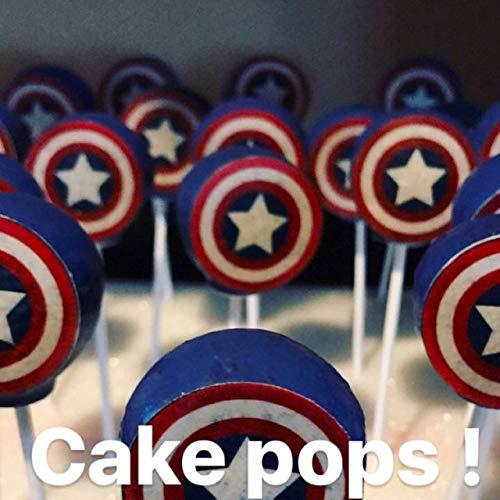 Captain America Shield Edible Cupcake Toppers x -
