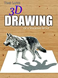 Clip: Time Lapse 3D Drawing of a Walking Wolf